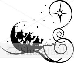 religious christmas clipart black and white. Religious Christmas Clipart For Black And White