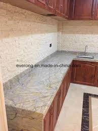 indian arison gold yellow granite prefabricated countertop for kitchen