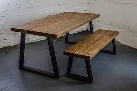 industrial dining furniture. U Frame Industrial Dining Table / Bench Furniture