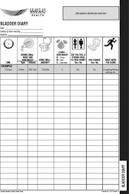 Bladder Chart Diaries Development And Pilot Testing Of A New Bladder Diary Format
