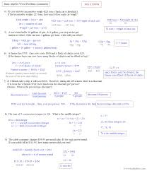 algebra 1 linear equations word problems jennarocca algebra word problems with solutions with template sample with