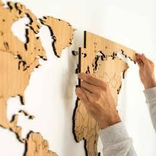 Houten Wereldkaart Eiken Unieke Wand Decoratie Voor Elk Interieur