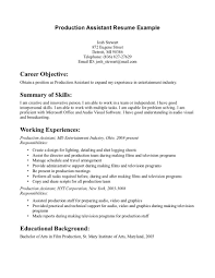 Film Industry Resume Film Production Assistant Resume Sample Resume For Study Production 21