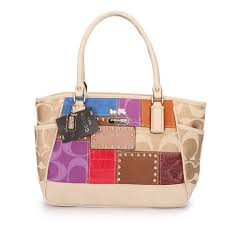Coach Holiday Matching Stud Large Ivory Multi Satchels EBH