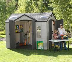 garden sheds. Interesting Garden Lifetime 10 X 8 Ft Dual Entrance Shed With Garden Sheds