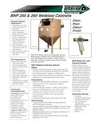 Clemco Industries Blast Cabinets Bnp 250 260 Wetblast Cabinets Rev E Clemco Industries Pdf