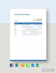 10 Hour Shift Schedule Templates 3 10 Hour Shift Schedule Templates Pdf Word Free