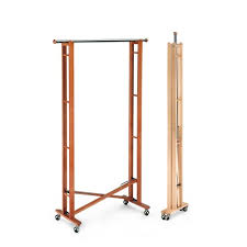 Collapsible Coat Rack Garment Rack Aris Better Living Garments Rack Beech Wood Folding 2