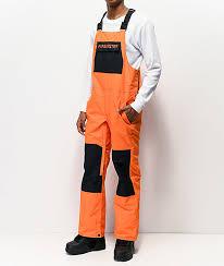 Airblaster Freedom Fire Orange 10k Snowboard Bib Pants