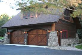wood double garage door view in gallery door40 double