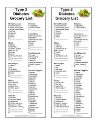 diabetes food menus great for people with type 2 diabetes this printable grocery list