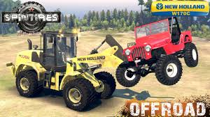 SpinTires New Holland W170C Loader Off-road Test - YouTube