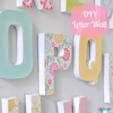 baby letter wall art