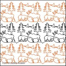 Moose Bear Geese Panto/Border | Digital Quilting Designs & Digital Quilting Design Moose Bear Geese Panto/Border by Judith Kraker. Adamdwight.com