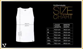Tank Top Size Chart Men Size Charts Bearded Blackbirds