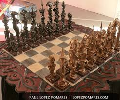 the king must hand carved chess set