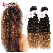 Hair Length Chart Weave Kinky Curly Weave Human Hair Bundles Ombre Brazilian Hair