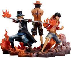 3pcs one piece anime action figures