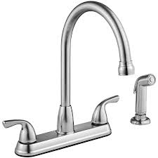 Stainless Steel Faucets Kitchen Shop Project Source Stainless Steel 2 Handle High Arc Kitchen
