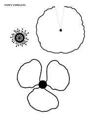 poppy template remembrance day poppy craft for kids with free printable template
