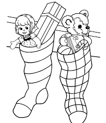 Small Picture Christmas Stocking Coloring Page Full With Gifts Christmas