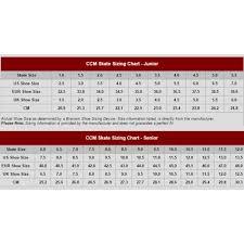 Ccm Goalie Pad Sizing Chart Ccm Skate Size Chart Bedowntowndaytona Com