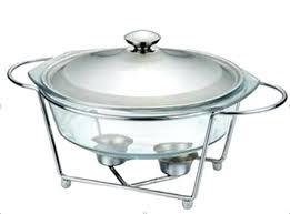 glass buffet dish chafing pot food warmer chafing dish warmer oval sun food electric
