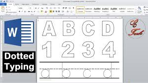 I use rulers and curve templates frequently when i draw or paint. How To Make Dotted Typing Design In Microsoft Word Youtube