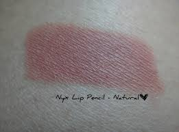 nyx lip pencil in natural swatch review march 18 2016 nyx lip pencil natural review