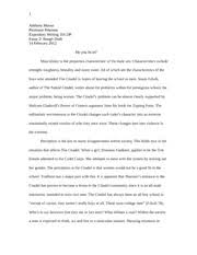 essay anthony musso professor peterson expository writing essay 2 1 anthony musso professor peterson expository writing 101 dp essay 2 rough draft 14 2012 do you fit in masculinity is the properties