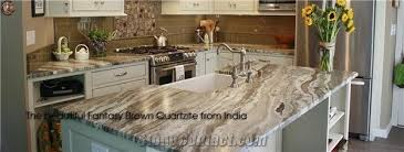 fantasy brown marble kitchen island top countertops counter tops