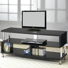 glass media console pottery barn tv stands contemporary metal and by coaster black