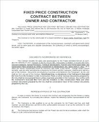 Project Contract Templates Construction Contract Sample 8 Template Considering Basic Elements ...