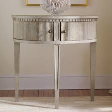 Modern History Home Gustavian Half Round Table