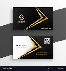 Visiting Card Design Black And Gold Black And Gold Premium Luxury Business Card Design