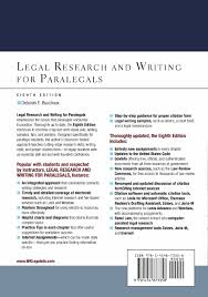 Legal Research And Writing For Paralegals Deborah E Bouchoux
