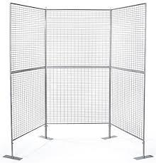 3 Panel Display Stand Enchanting 32Panel Art Display Stand Silver Finish Iron