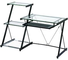 decor stunning office design using chic glass computer desk