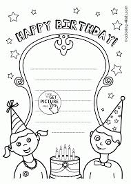Coloring Page : Card Coloring Pages Decorative Cards Birthday ...