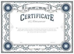 Certificates Printable Blank Stock Certificate Template Certificates Printable