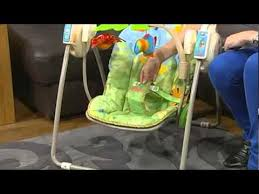 Fisher-Price Rainforest Take-Along Baby Swing - YouTube