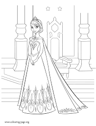 Small Picture Frozen Elsa queen of Arendelle coloring page