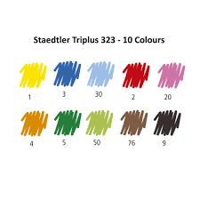 Staedtler Triplus Color Chart Staedtler Triplus Colour Fiber Tip Pens Colours Of 10