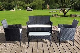 bright associates limited 4 piece outdoor rattan