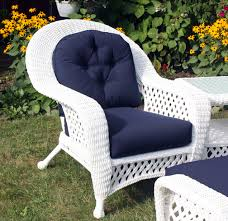 white wicker chair. White Outdoor Wicker Chair: Montauk Collection Chair