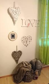 Wand Etwas Verschönert Schlafzimmer Körbe Love