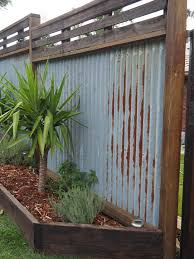 Sheet Metal Fence Recycled Hardwood Timber I With Design