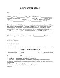 Rent Notice Letter Sample Rent Increase Letter Sample Green Brier Valley