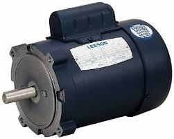 ac motor 1 5hp 1725rpm 1ph 115v 208 230v 56c tefc base leeson electric motor 110420 00 1 5 hp 1725 rpm 1ph 115 208 230 volt 56c