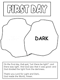 Creation Coloring Pages Day Of Creation Coloring Page Vputiinfo